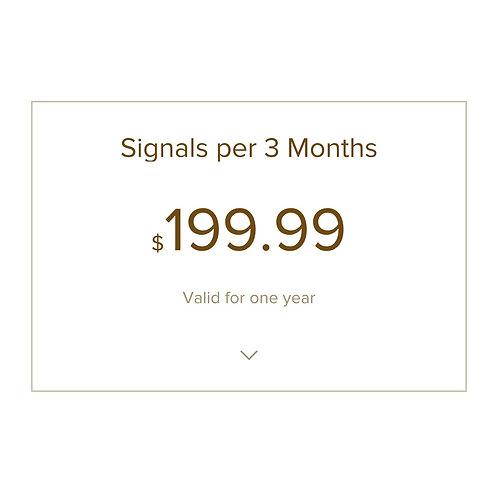 Signals Per 3 Months