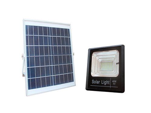 LUM. SOLAR 40W C/ PANEL SOLAR EXTERNO 6000k