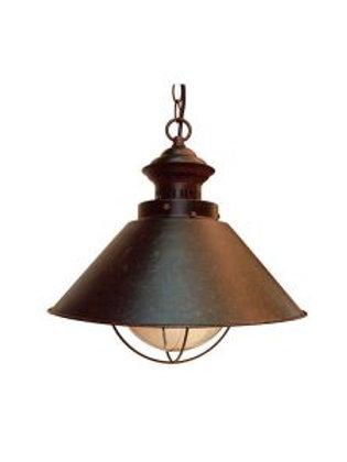 LAMPARA COLGAR COBRE ENVEJECIDO MOF.PE001-1P LINES NAUTI ( SIN AMPOLLETA)