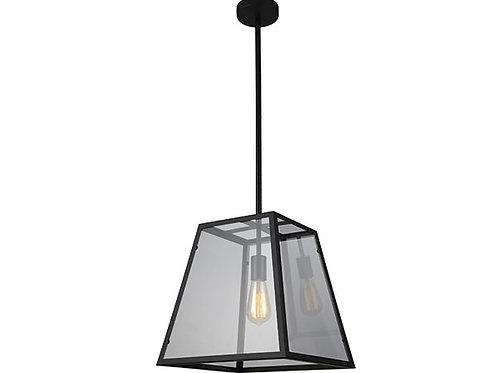 LAMPARA COLGANTE 1 LUZ VANKO E27 NEGRO (SIN AMPOLLETA)