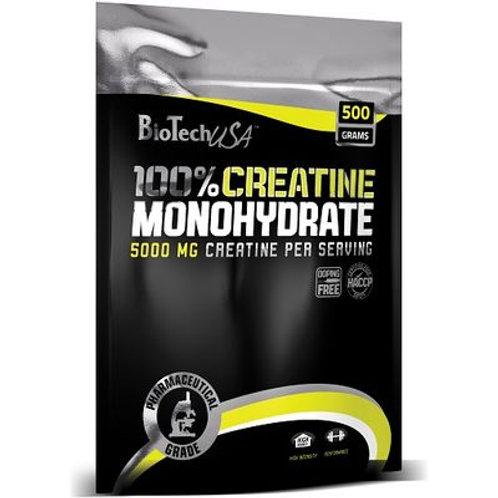 BioTech USA 100% Creatine Monohydrate, 500g Beutel