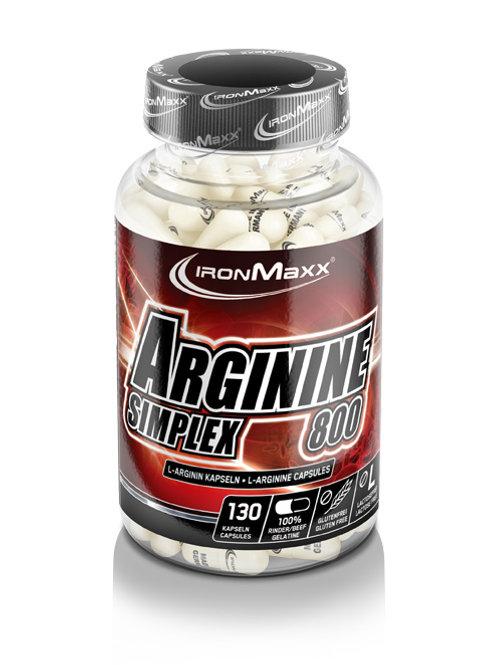 IronMaxx Arginin Simplex 800, 130 Kapseln  (111g)