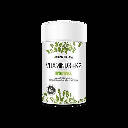Sinob Pharma Vitamin D3 + K2, 60 vegane Kapseln  (30g)