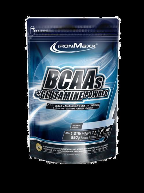 IronMaxx BCAAs + Glutamin Powder 550g
