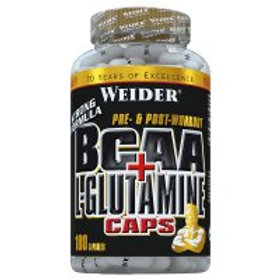 Weider BCAA + L-Glutamine Caps, 180 Kapseln  (100g)