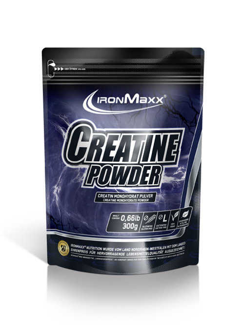 Ironmaxx Creatine Powder, 300g Beutel