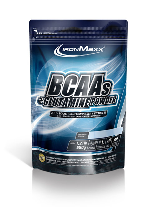 IronMaxx BCAAs + Glutamin Powder 550g