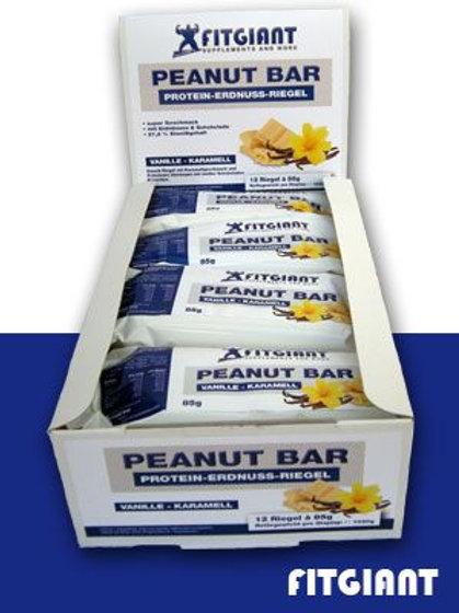 Fitgiant Peanut Protein Bar - 12 Riegeln a 85g (1020g)