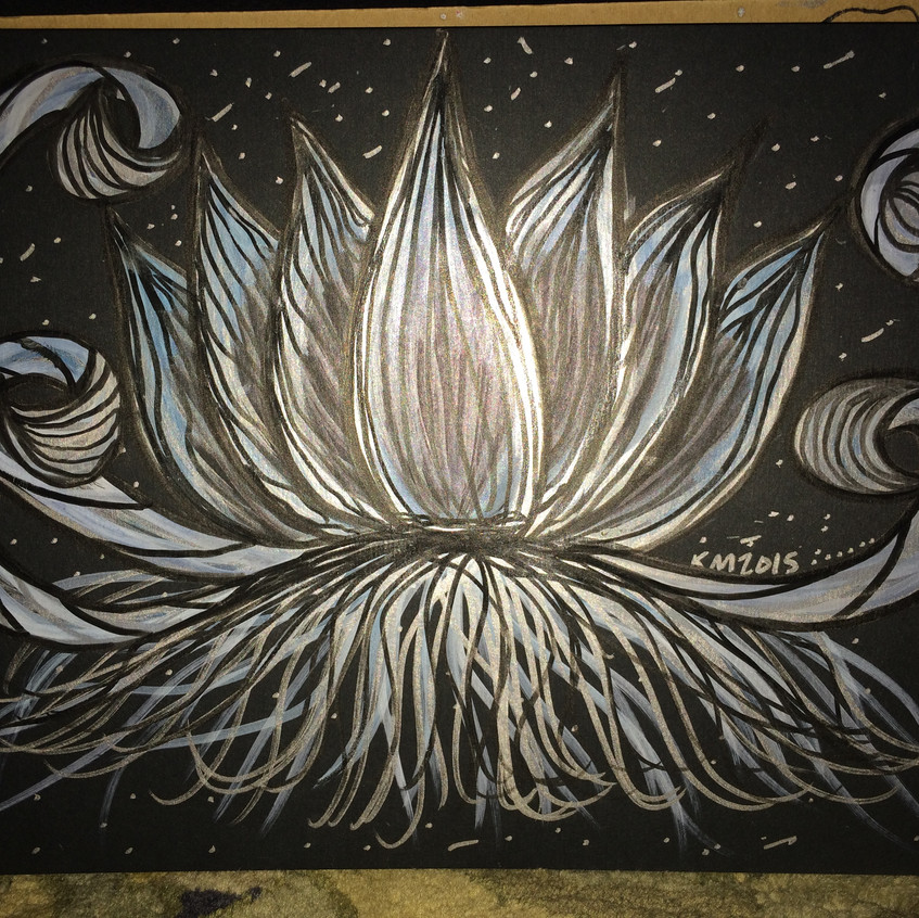 Blue lotus (detail with flash)