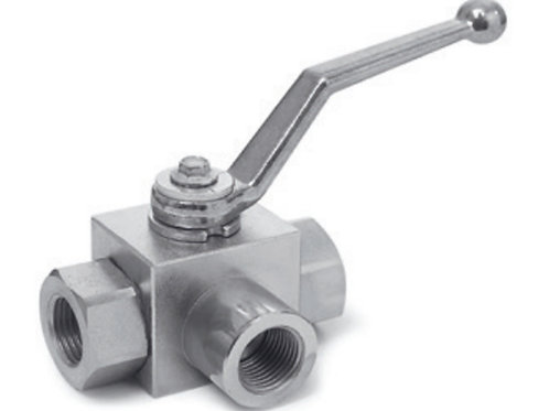 a3-WAY BALL VALVES L-BORE - CARBON