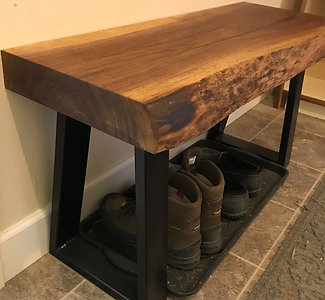 Walnut Live Edge Bench
