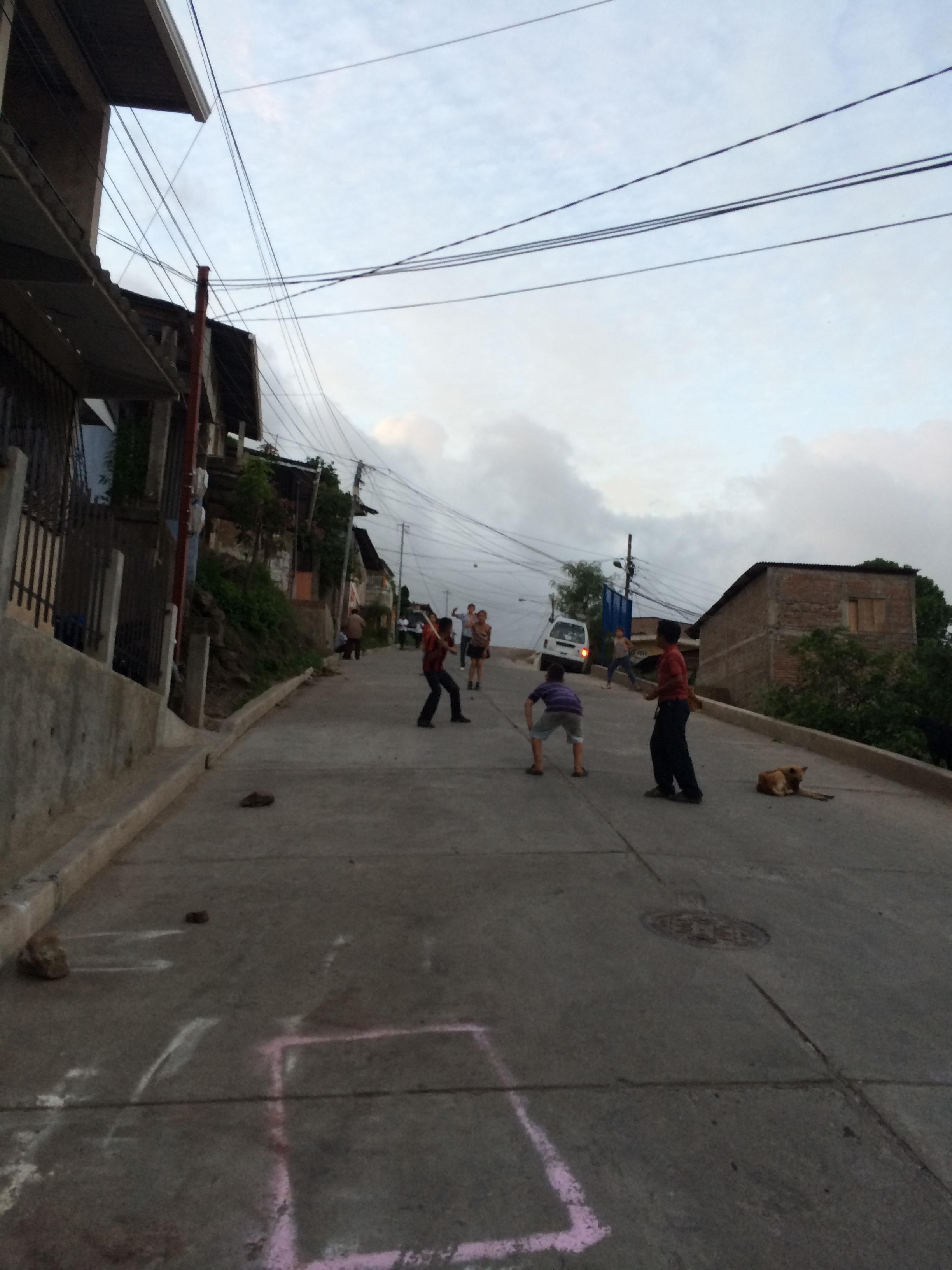 Street Baseball in Matagalpa