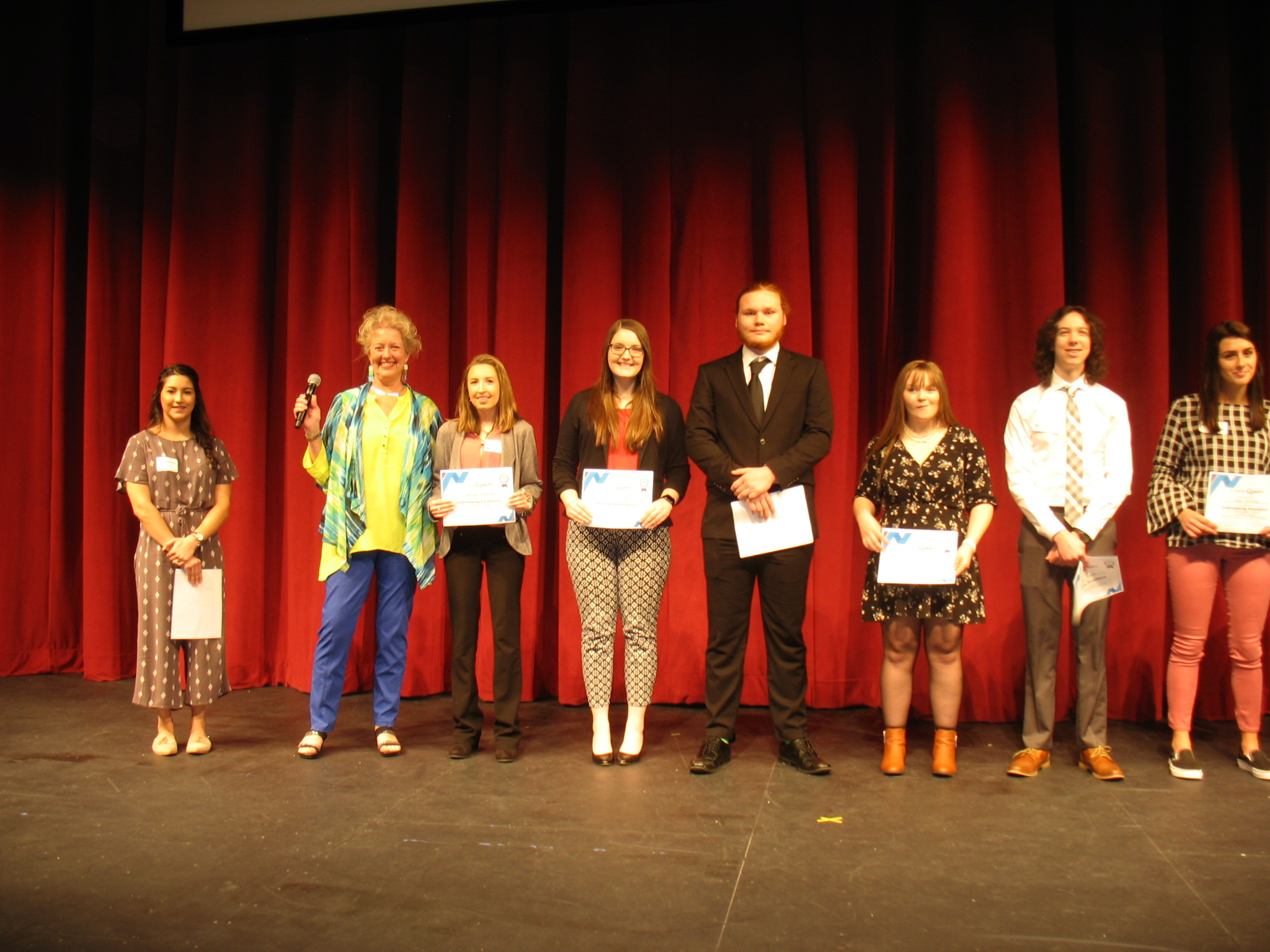 Students being recognized