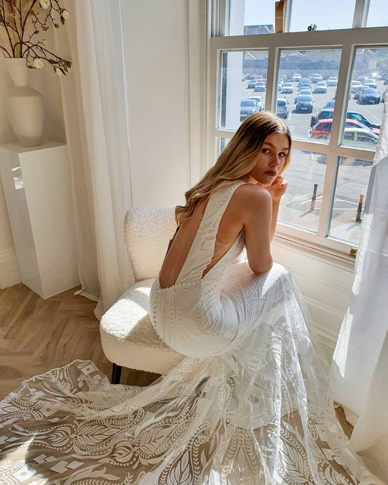Boho Bridal Shop in North Devon. Check out our Florence by Rish Bridal dress.