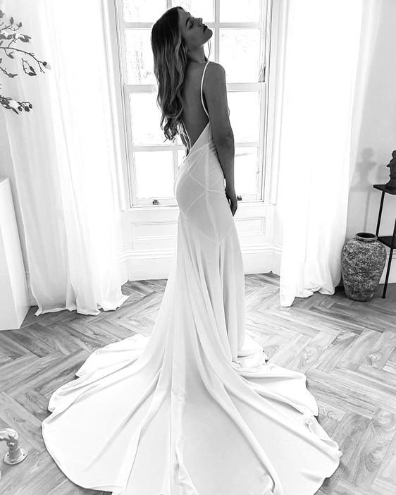 Rish Bridal Robin Dress - Crepe, simple, slip dresses at Evolved Bridal, Devon & Cornwall