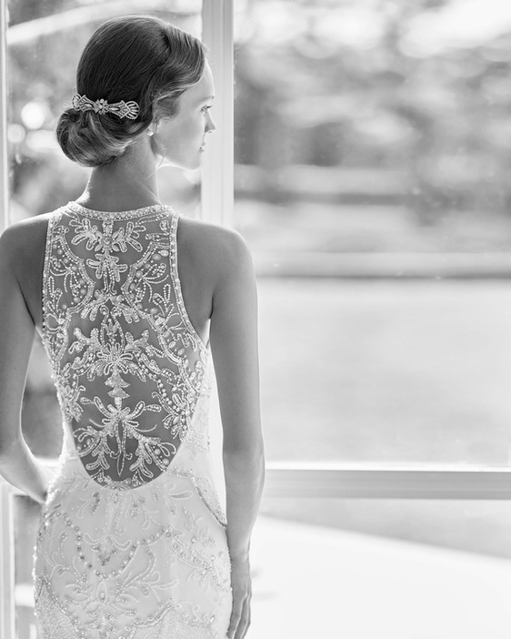 Rosa Clara Obac Gatsby Wedding Dresses at Evolved Bridal, Devon and Cornwall stockist.