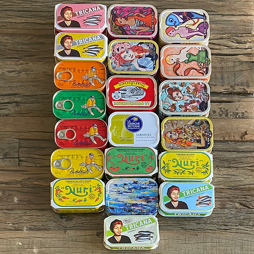 Lot de 20 boites de Sardines millésimées de Collection