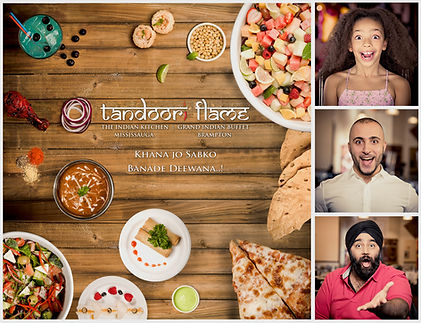Client: Tandoori Flame  Project: Expressions  Photography: TBM
