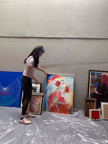 Curating and checking quality of works to be showcased at 'Voices of Women'