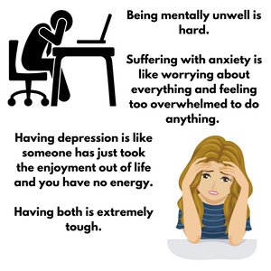 Having anxiety is hard, having depression is just as hard but having both is just hell.