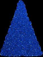 Clip Art - Swirl Christmas Tree - Sapphire Blue Glitter.png