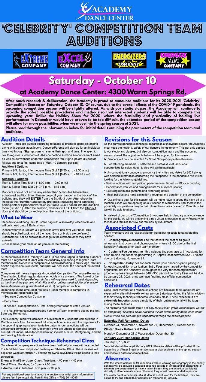 Academy Dance Center Auditions