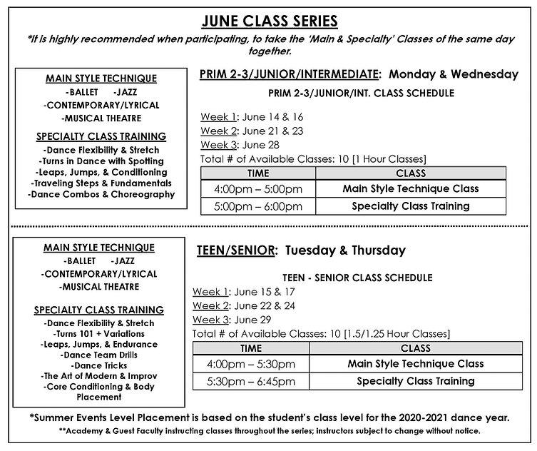June Class Series 2021