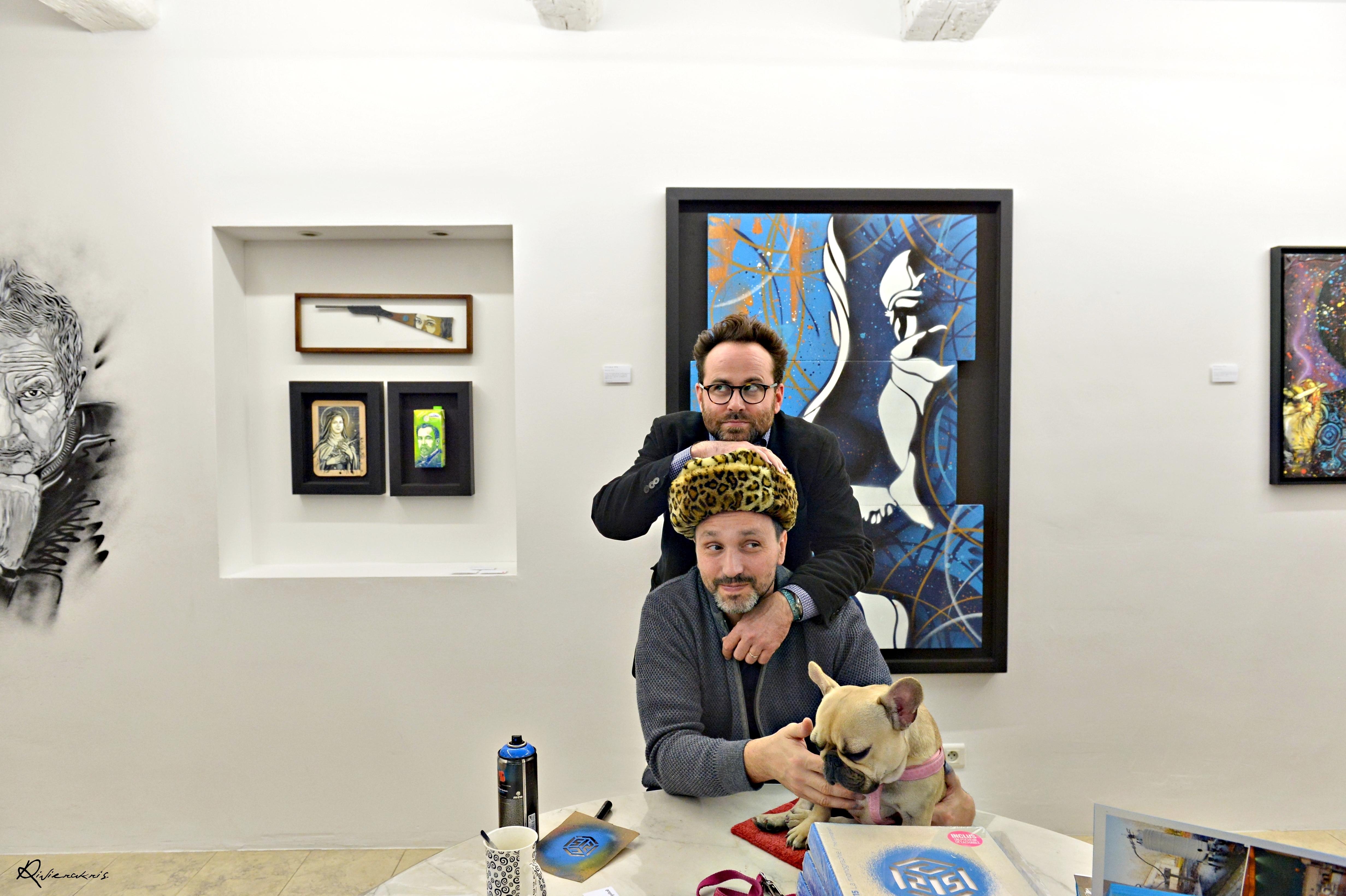 C 215 et Geoffroy Jossaume Galerie G