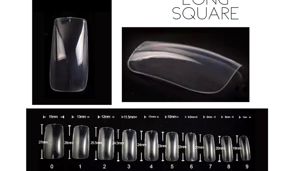 Full Cover Nail Tips -Square