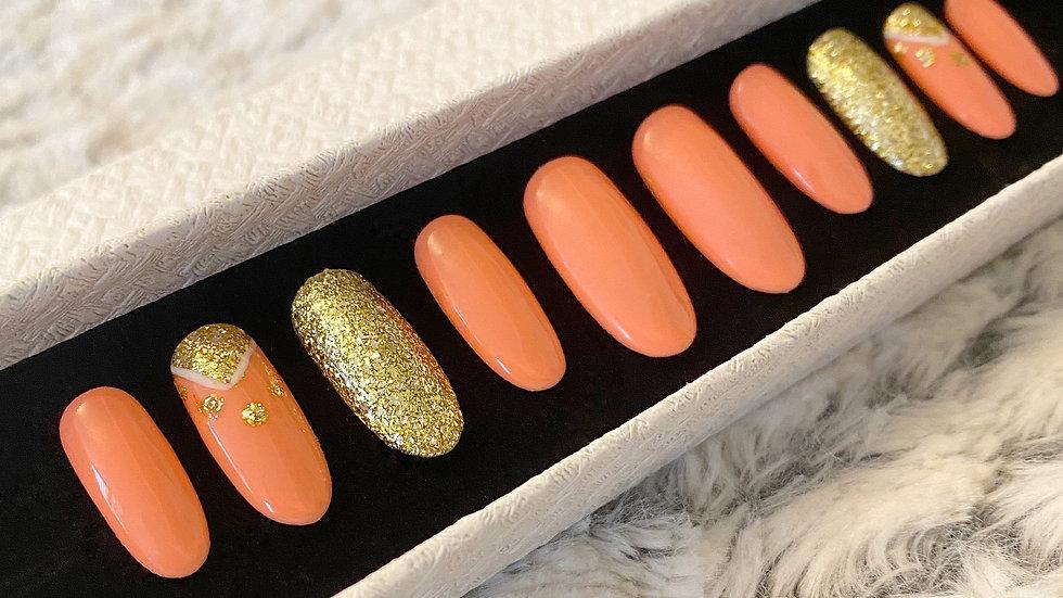 Coral Orange Gold