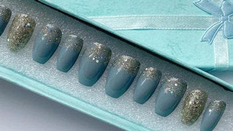 Blue & Silver Glitter