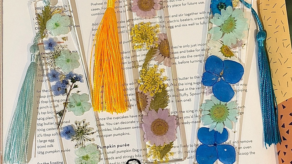 Resin Flower Bookmarks