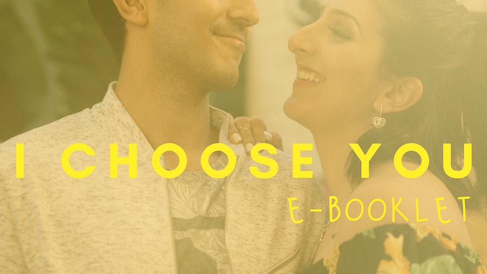 I Choose You - ebooklet