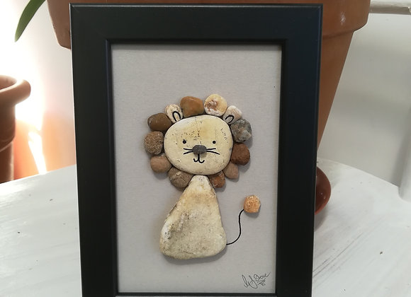 Steinbild Stoneart, Löwe fürs Kinderzimmer
