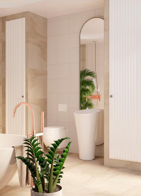 Ванная комната в современном эко стиле