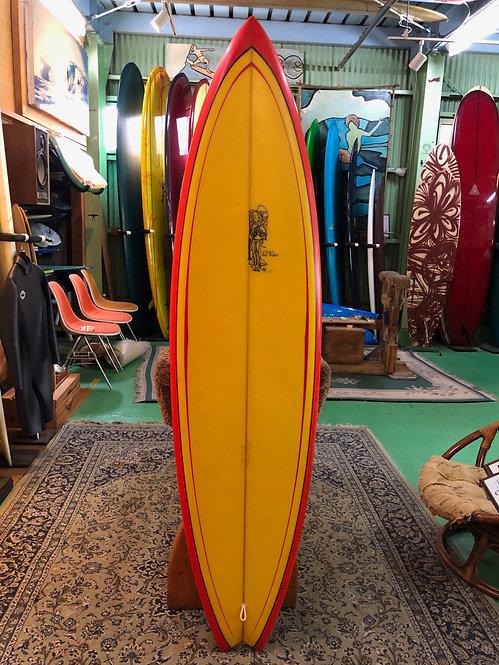 "Joel's  USED- 6'4""SINGLE  SWALLOW - JOEL PERSONAL /JOEL TUDOR SURFBOARDS"