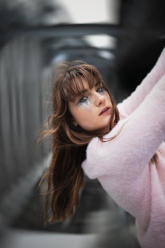 Maquillage mode glitters fashion silver