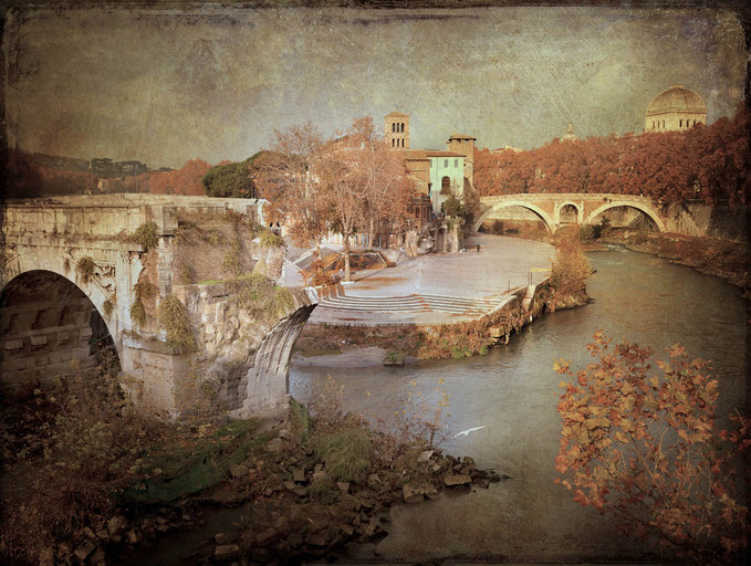 Ponte rotto e Isola Tiberina - Textures