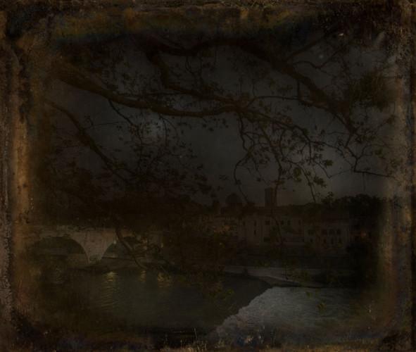 Il Tevere, notturno - texture