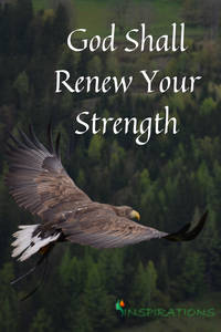 Fly like an eagle, stay strong, God restores, God inclines to hear you, God refreshes you, God helps you, renew your strength, seek God, turn to God, strength, do what's right