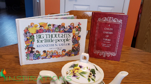 Big thoughts for little people, a child's garden of verses, devotaional books for children, devotional books for girls, books to read at tea party