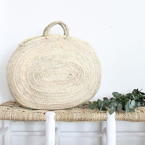 Large Oval Straw Bag