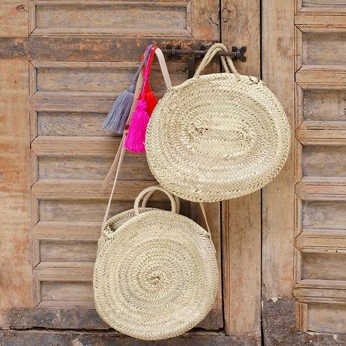 Ovale Medium Straw Handbag