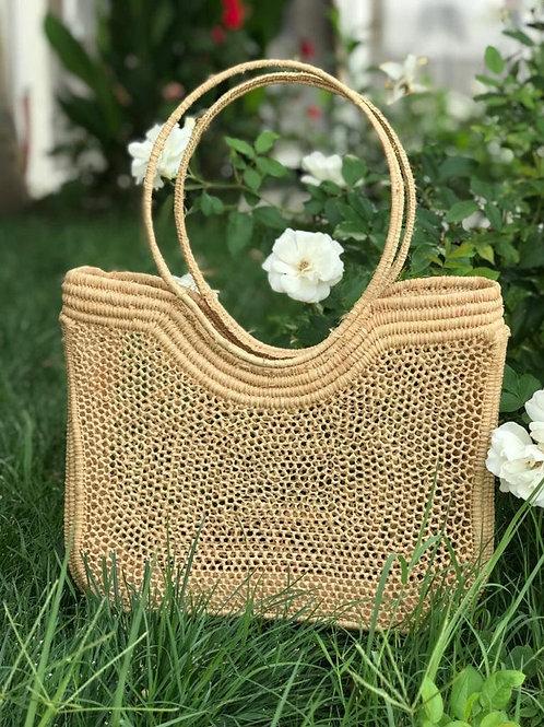 Shoulder Medium  Raffia Macramé Bag