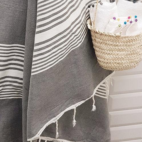 Hammam Towel - Fouta - Grey