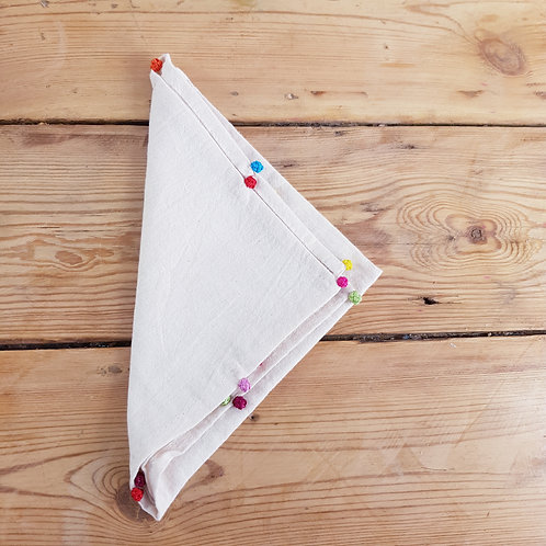 Cotton Napkin with Djellaba Colour Decoration