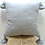 Thumbnail: Light Grey Cotton PomPom Cushion cover with silver stripes