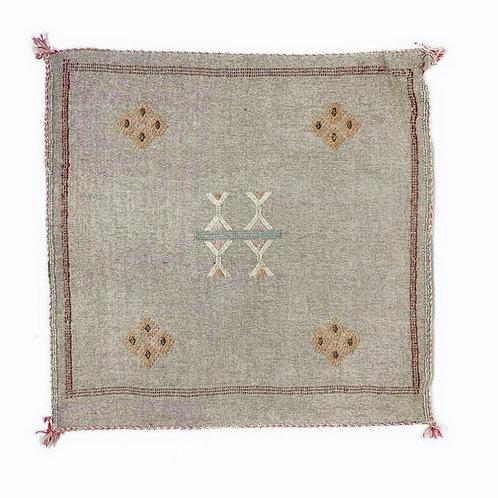 Grey Cactus Silk Pillow Cover