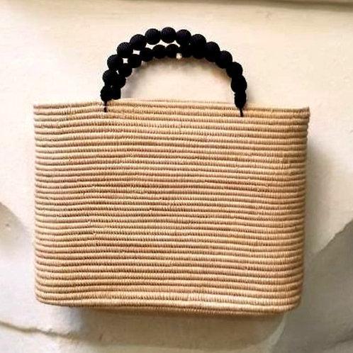 Raffia bag with Cotton handles