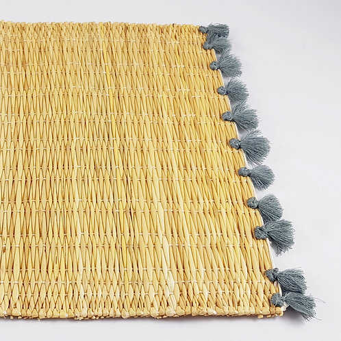 Set of two Wicker Placemats - Grey